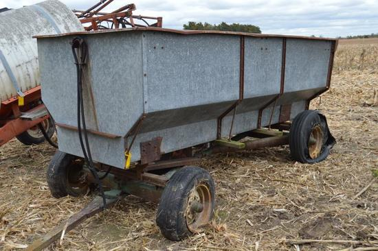 Heider galvanized flare box wagon w/ hoist on John Deere 953 running gear
