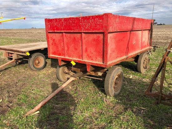 5'x10' barge wagon w/end gate seeder