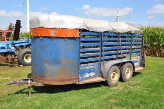16' bumper hitch livestock trailer