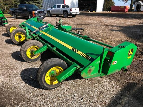 John Deere 120 20' stalk chopper