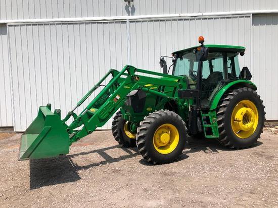 2013 John Deere 6140D MFWD tractor