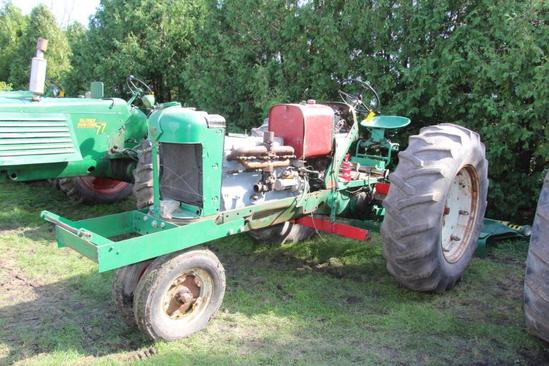 Oliver 88 Row Crop pulling tractor