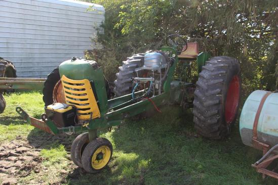 Oliver 77 Row Crop pulling tractor