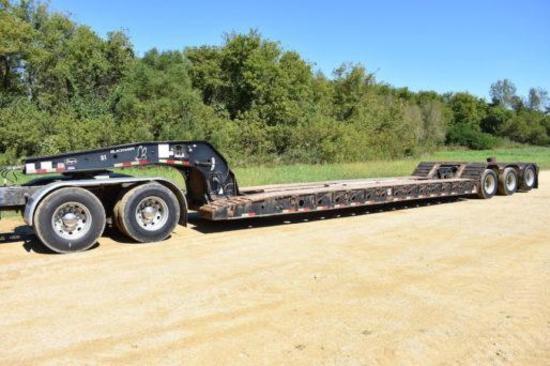 2005 Etnyre Blackhawk 55-ton hyd. detach trailer