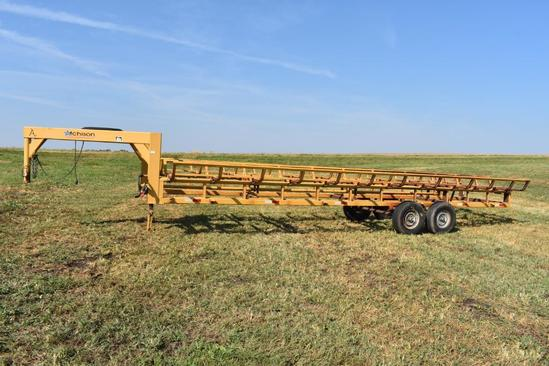 2009 Atchison 10-bale tandem hay trailer