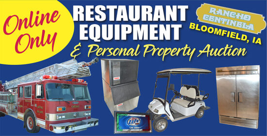 Ring 1 - Online Restaurant Equip Personal Property
