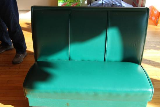 """44"""" wide single sided restaurant styled booth seat"""