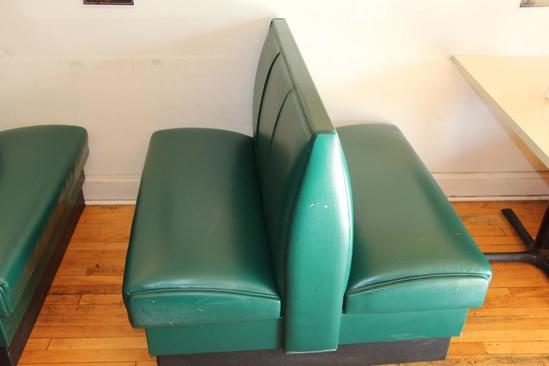 """44"""" wide double sided restaurant styled booth seat"""