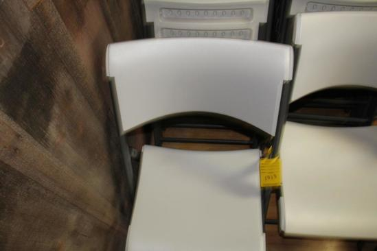(20) Lifetime poly folding chairs