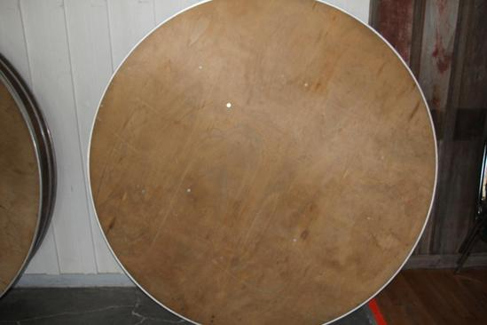 (4) 6' diameter wooden tables