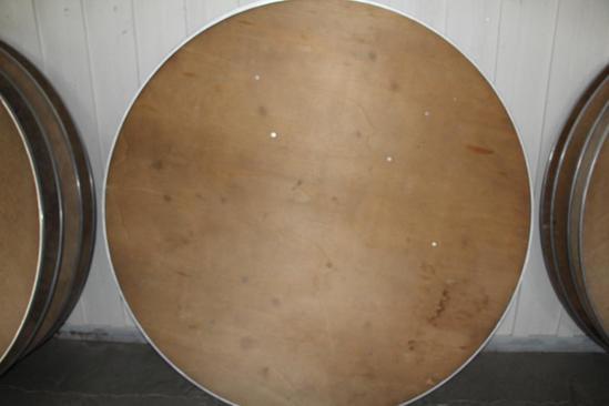 (4) 6' diameter wooden tables