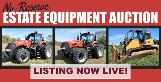 No-Reserve Estate Equipment Auction