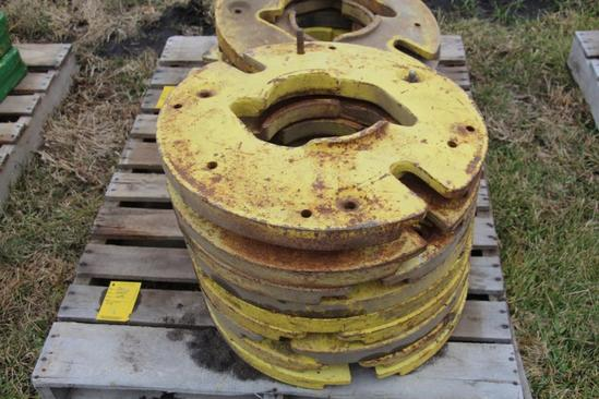 (9) John Deere wheel weights