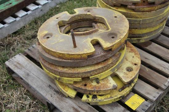 (6) John Deere wheel weights