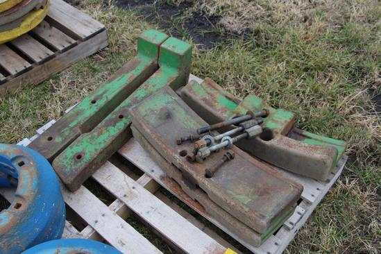 John Deere 730 weights and bracket
