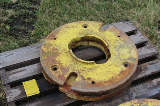 (2) John Deere rear wheel weights