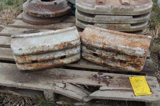 (2) Ford front weights