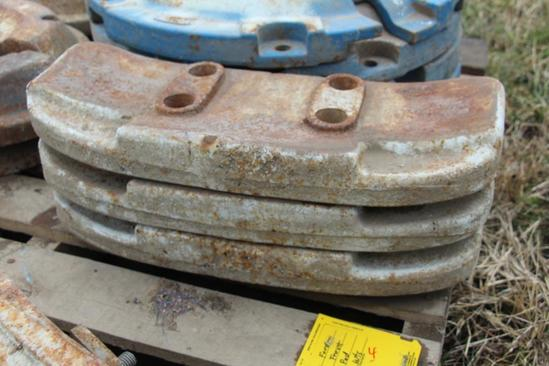 (3) Ford front pad weights