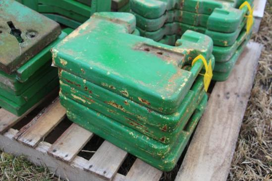 (5) John Deere front suitcase weights