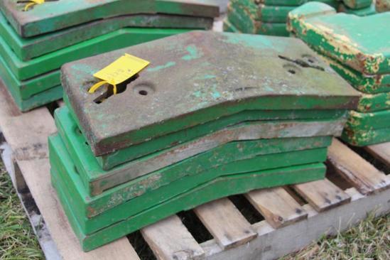 (6) John Deere front pad weights
