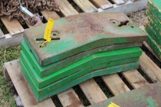 (5) John Deere front pad weights