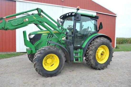 2015 John Deere 6125R MFWD tractor