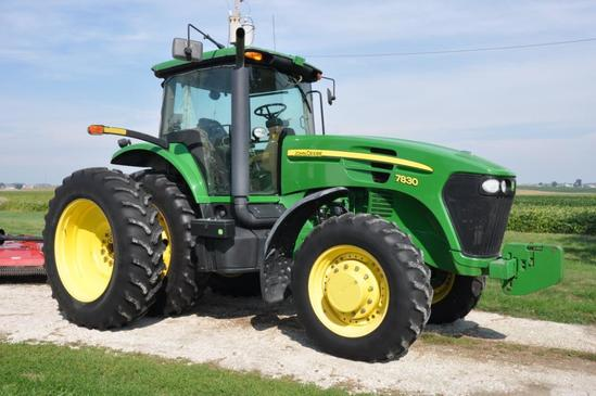 '09 JD 7830 MFWD tractor
