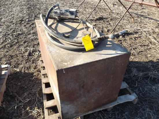 Fuel transfer tank w/pump