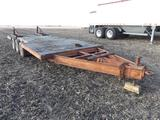 Shop built 20' flatbed trailer