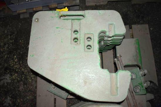 (10) John Deere front weights