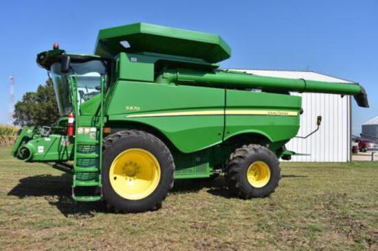 2013 John Deere S670 4wd combine