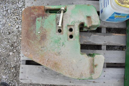 (4) John Deere front weights