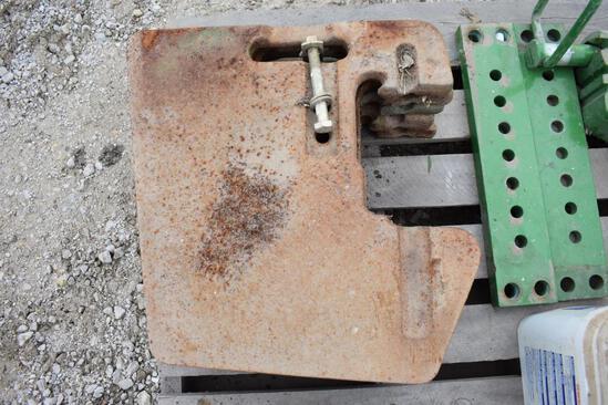 (5) John Deere front weights