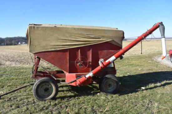 """150 bu. gravity wagon with Westfield 6""""x12' hyd. drive auger"""