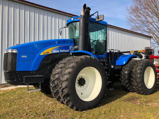 2008 New Holland TJ380 4wd tractor