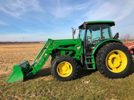 2011 John Deere 6115D MFWD tractor