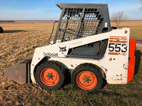 Bobcat 553 skid loader