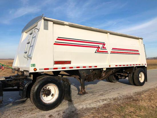 2005 Wheler 23' steel hopper bottom trailer