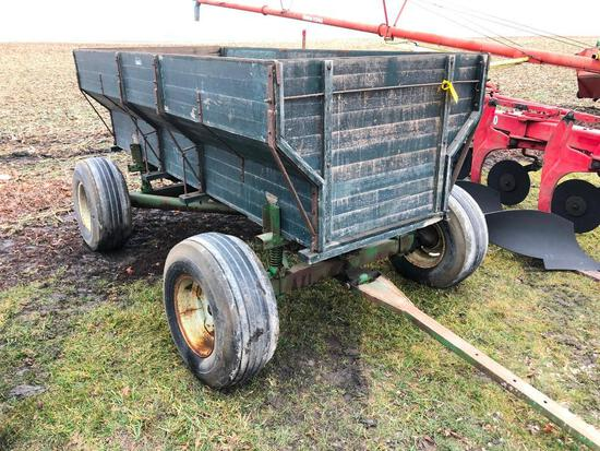 Wooden barge wagon on JD running gear