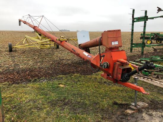 """Farm King 10""""x70' swing-away auger"""