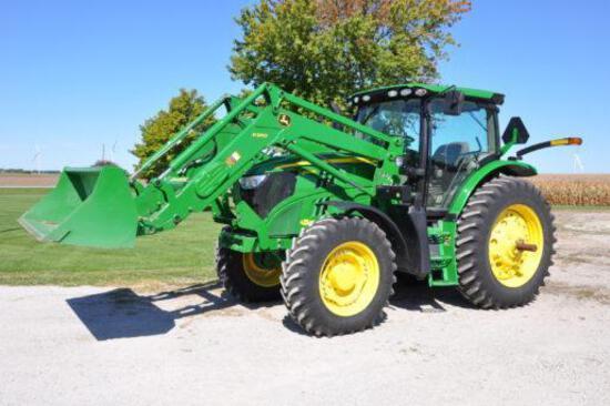 2013 John Deere 6140R MFWD tractor