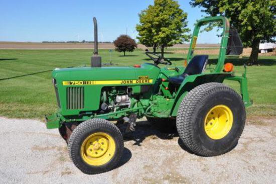 John Deere 750 2wd compact tractor