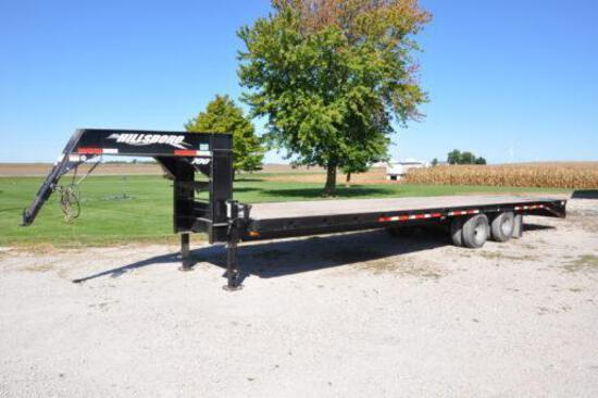 2008 Hillsboro 33' gooseneck flatbed trailer