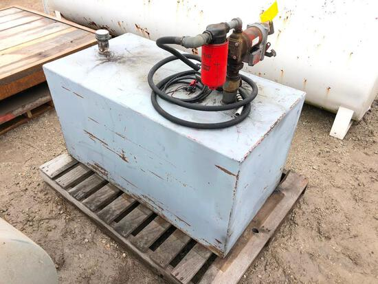 Fuel transfer tank w/12V pump