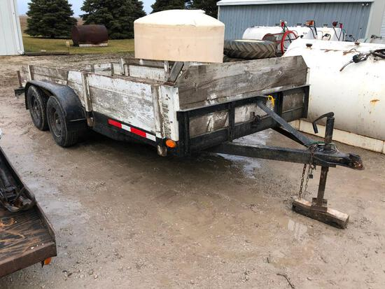 Jamar 16' bumper hitch flatbed trailer