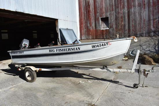 Smoker Craft 14' Big Fisherman alum. boat