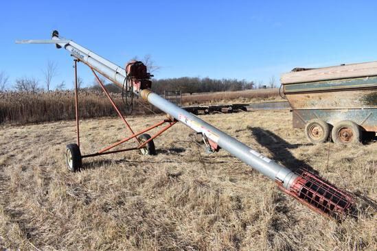 "Hutchinson 8""x30' load out auger, elec. drive"