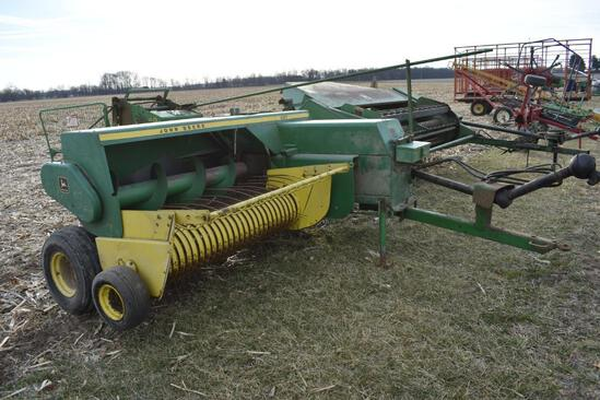 John Deere 337 small square baler w/JD 40 kicker