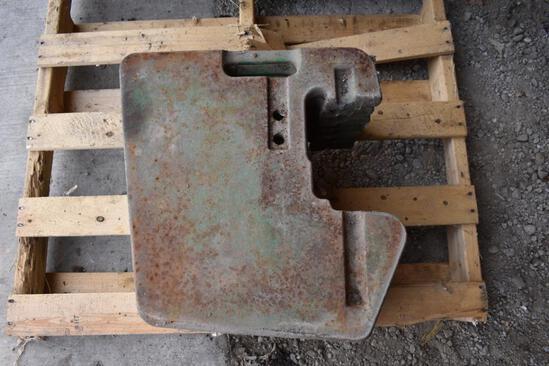 (7) John Deere front suitcase weights