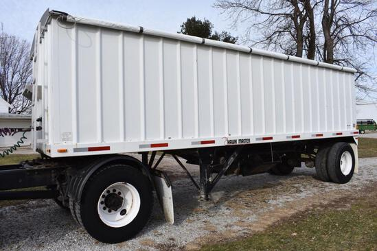 1998 HawkMaster 24' hopper bottom trailer